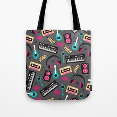 Jazz music instruments and sounds pattern Tote Bag