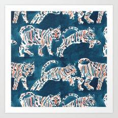 TIGER POUNCE Art Print