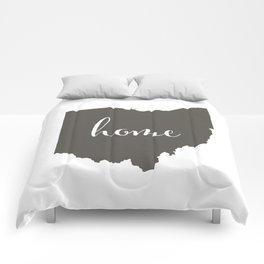 Ohio is Home Comforters