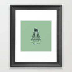 Batminton Framed Art Print