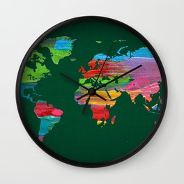 World Map 21 Wall Clock