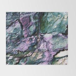 Textured Minerals Teal Green Purple Throw Blanket