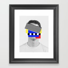 Red yellow blue hunk Coupland Framed Art Print
