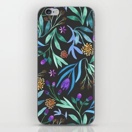Watercolor floral bouquet pattern iPhone Skin