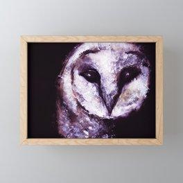 Barn Owl Painting by Lil Owl Studio Framed Mini Art Print