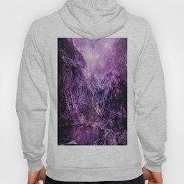 galaxy mountains Purple Hoody