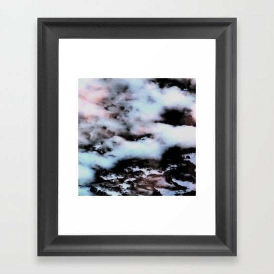 Ice and Smoke Framed Art Print