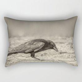Curious Crow Rectangular Pillow