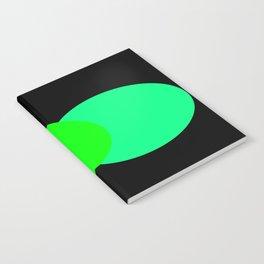 Aqua Green Black : Mod Circles Notebook