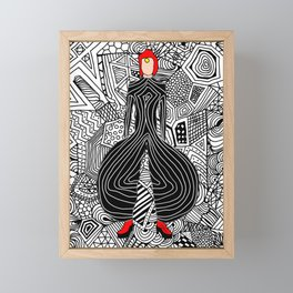 Heroes Fashion 6 Framed Mini Art Print