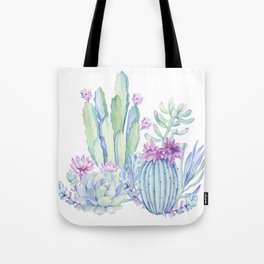Mixed Cacti White #society6 #buyart Tote Bag