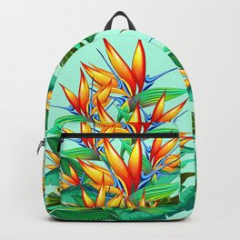 Bird of Paradise Flower Exotic Nature Backpack
