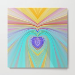 Only love will save this world, romantic rainbow print Metal Print