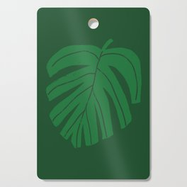 Green Monstera Leaf Cutting Board