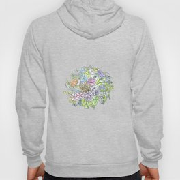 arrangement of flowers in pastel shades on a white background . illustration Hoody