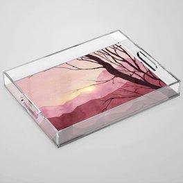 Sunset & landscape Acrylic Tray