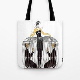 "Art Deco Design ""Improvised Cage"" by Erté Tote Bag"