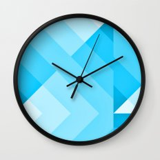 Turquoise blue  Gradient Wall Clock