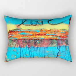 Love Runs Through  Rectangular Pillow