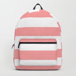 Coral Pink Stripe Horizontal Backpack