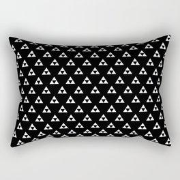 Triforce (White on Black) Rectangular Pillow
