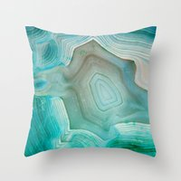 la Throw Pillows featuring THE BEAUTY OF MINERALS 2 by Catspaws