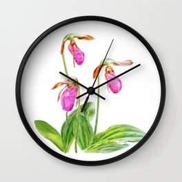 Lady's Slipper by Teresa Thompson Wall Clock