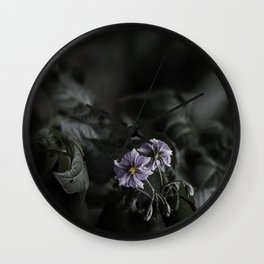 Potato flower Wall Clock