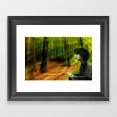 Playing Outside Framed Art Print
