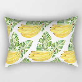 Banana Bunch – Green Leaves Rectangular Pillow