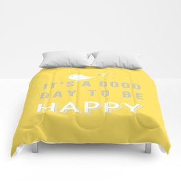 It's a good day yellow Comforters