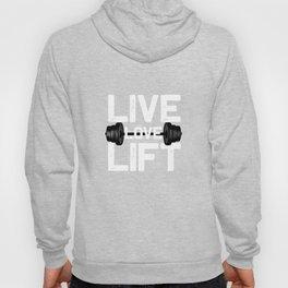 Funny Gym Live Love Lift Gymnastics Workout Squat print Hoody
