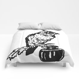 So Wise Black Owl Comforters