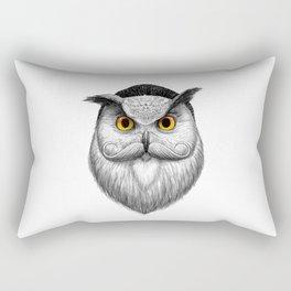 bearded owl Rectangular Pillow
