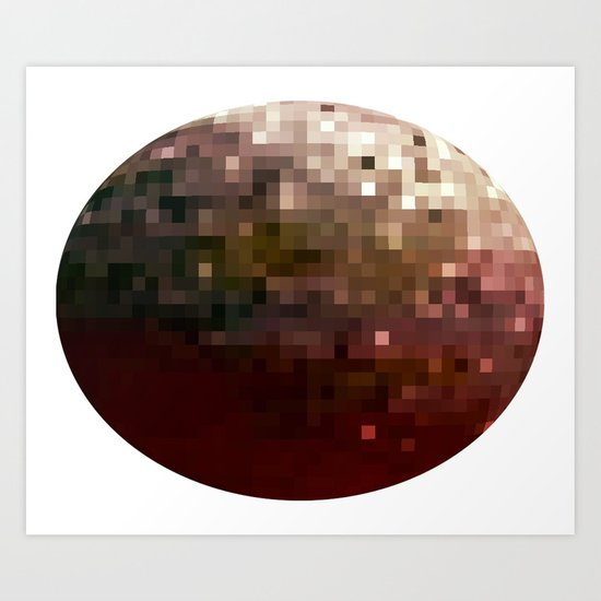 Planet Pixel 1 Art Print