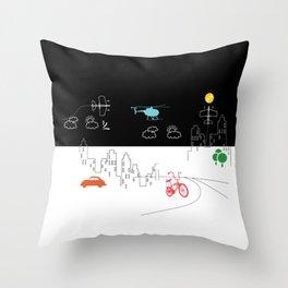 City Fun Throw Pillow