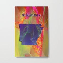 Arkansas Map Metal Print