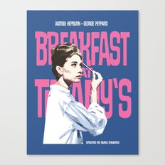 Breakfast at Tiffany's Movie Poster Canvas Print