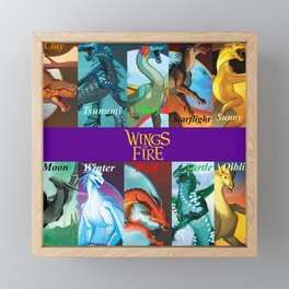 Wings of fire dragon Framed Mini Art Print