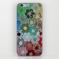 patchwork-design iPhone & iPod Skin