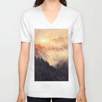 instagram V-neck T-shirts featuring In My Other World by Tordis Kayma