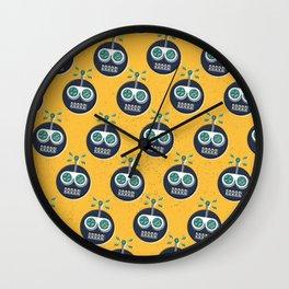 RW PATTERN YELLOW Wall Clock