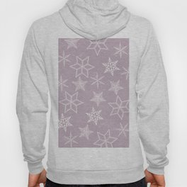 Snowflakes on pink background Hoody