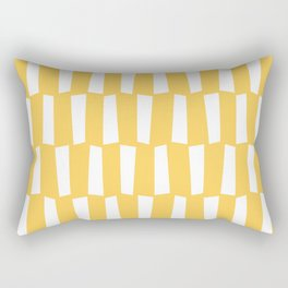 Yellow and white abstract shapes pattern Rectangular Pillow
