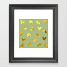 gold heart pattern Framed Art Print