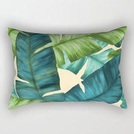 Tropical Banana Leaves Original Pattern Rectangular Pillow