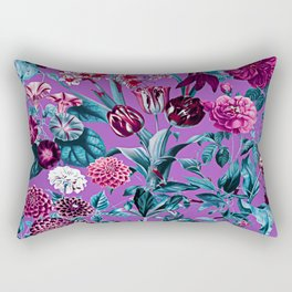 Romantic Floral Pattern Rectangular Pillow