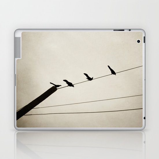 birds on a line Laptop & iPad Skin