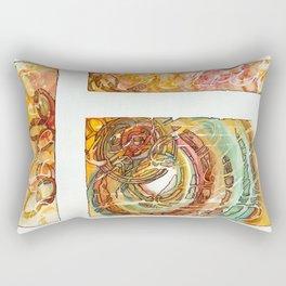 3 Parts Mandala Rectangular Pillow