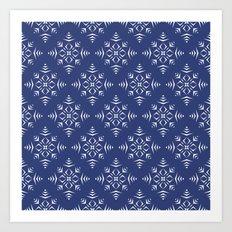 Paper Cut Snowflake Pattern Art Print